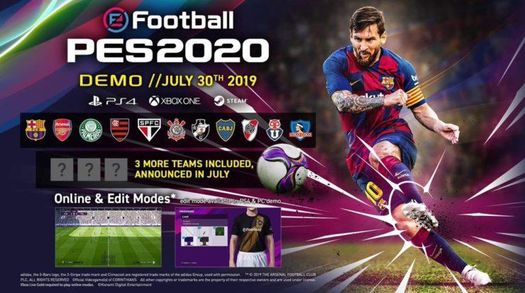 PES 2020 demo izlazi 30 jula objavljen spisak timova