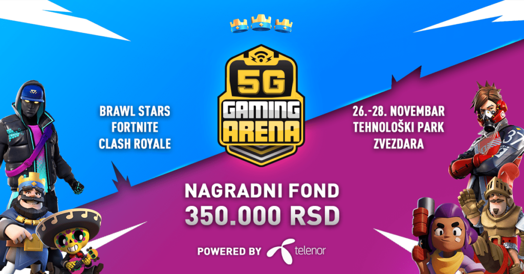 Telenor 5G Gaming Arena turnir je u toku
